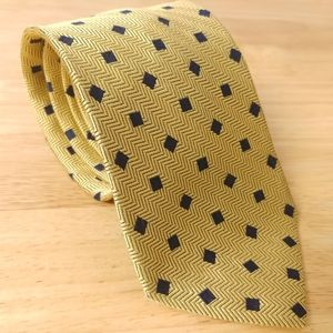 Façonnable | Woven yellow tie